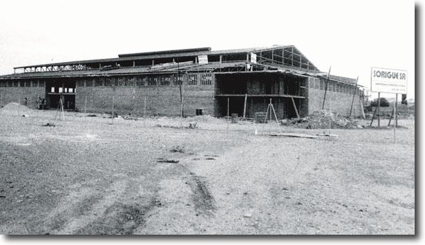 Construcció del Pavelló 3 l'any 1985